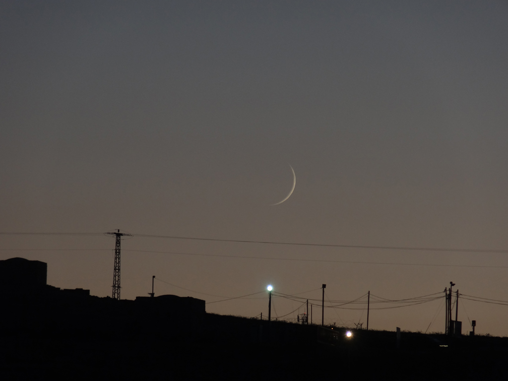 New Moon, Kefar Eldad, August 19, 2012