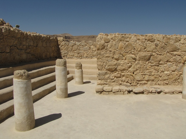 The ancient synagogue at Masada.