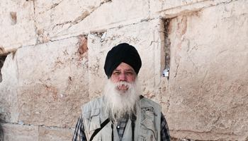 Sathari Singh at the Western Wall
