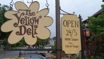 The Yellow Deli sign
